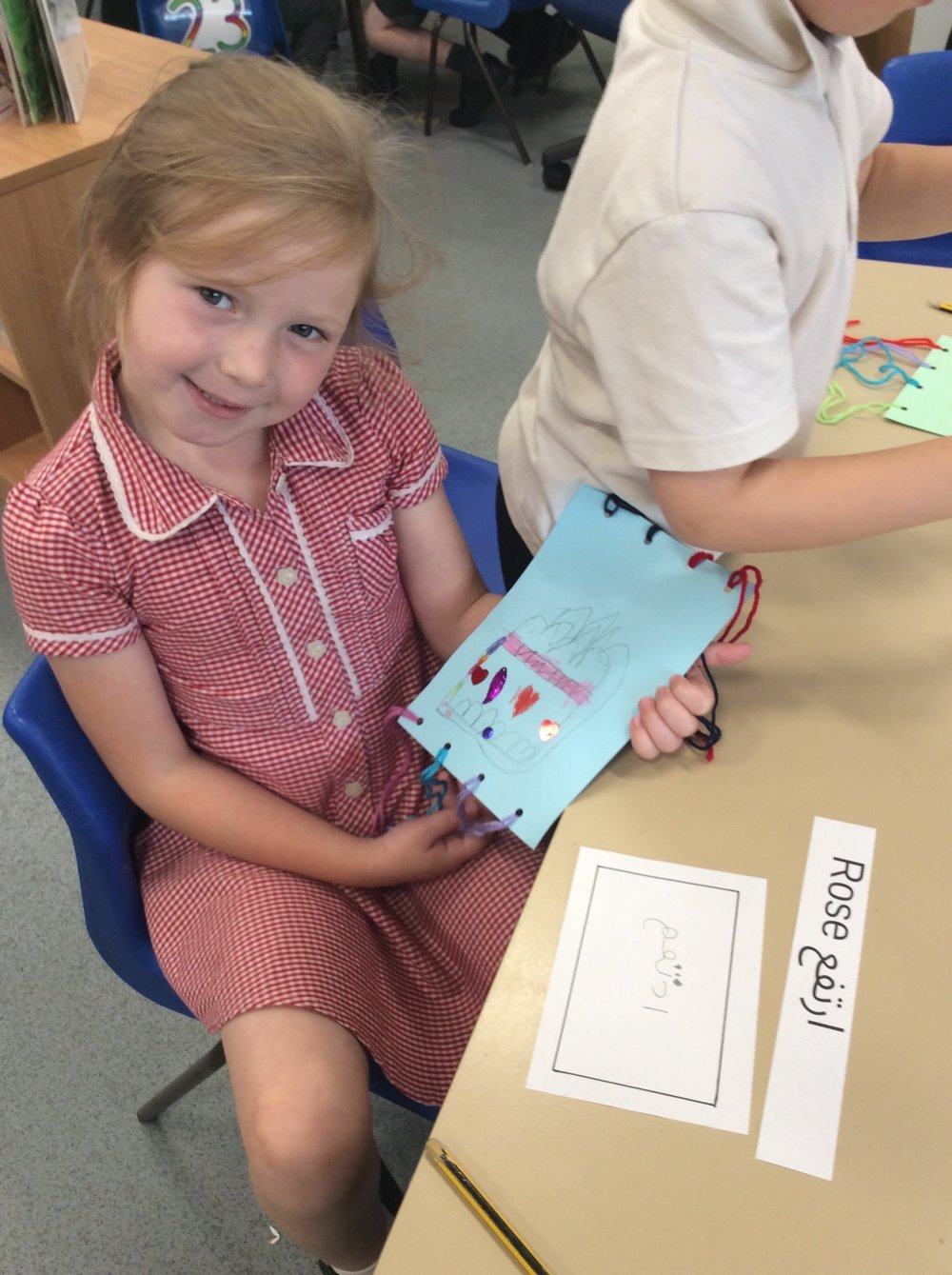 The reception children had a fun day making prayer mats, similar to the ones brought byImran, and they can be seen displayed outside their classrooms.