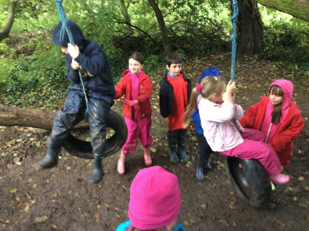 fun on the rope swing...