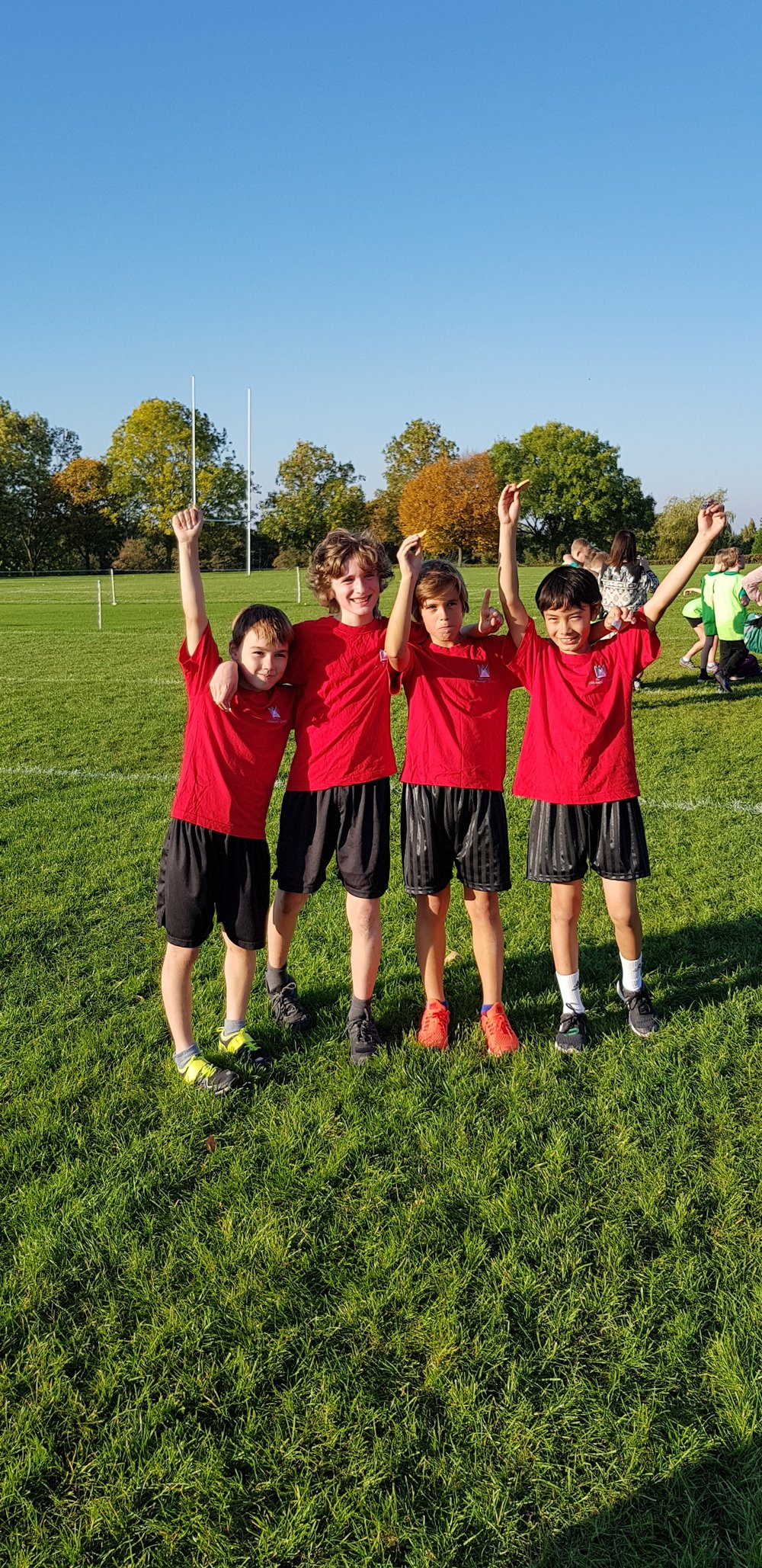 Some of the winning Year 5/6 boys team