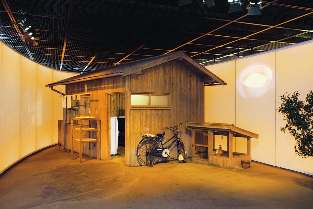 This wooden house is the exact replicated recreation of what the research laboratory looked like where Mr. Ando fathered the world's first cup noodle.
