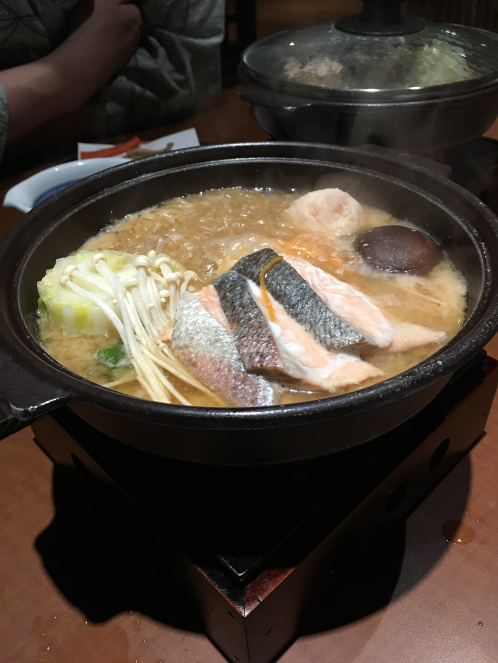 Habitually produced Japanese hotpot warmed my body and soul along with an organic savory delight.