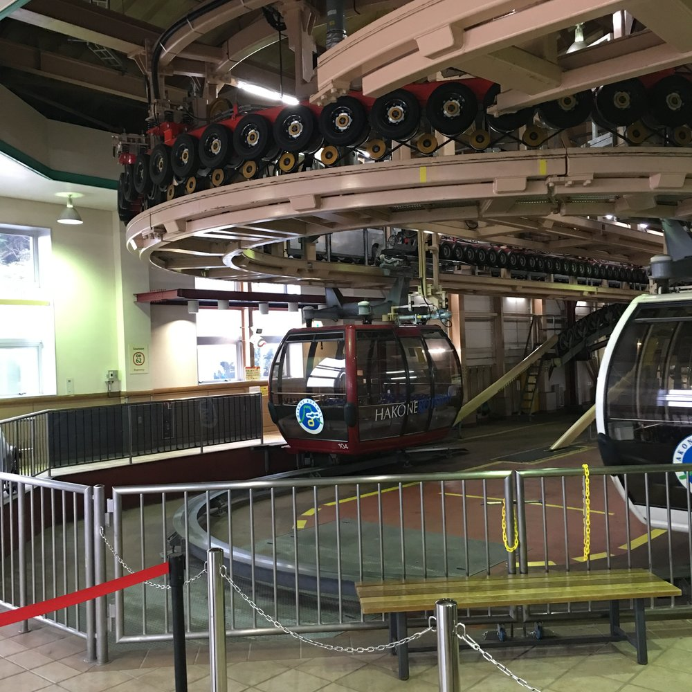 After arriving at Souzan Station, we took the Hakone Ropeway Service so that we can reach the Togendai Station.