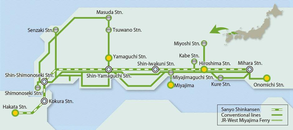 Hiroshima Yamaguchi Area Pass Amnet