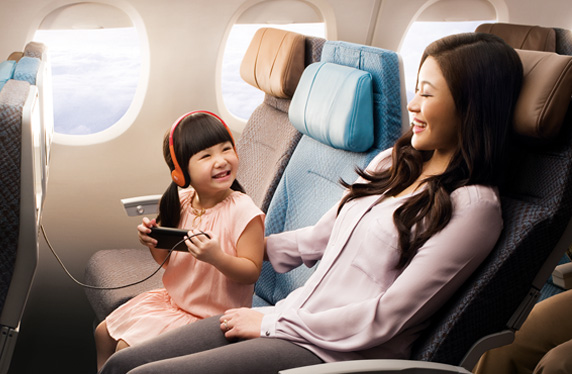 Singapore Airlines Economy Class Seat
