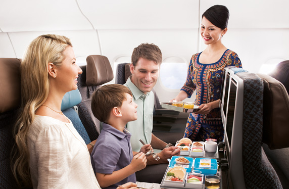 Singapore Airlines Economy Class Seat/Meal