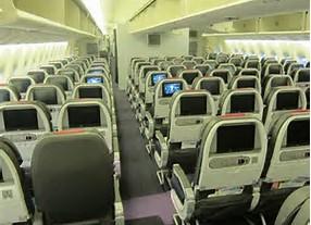 アメリカン航空(国際線)メインキャビン