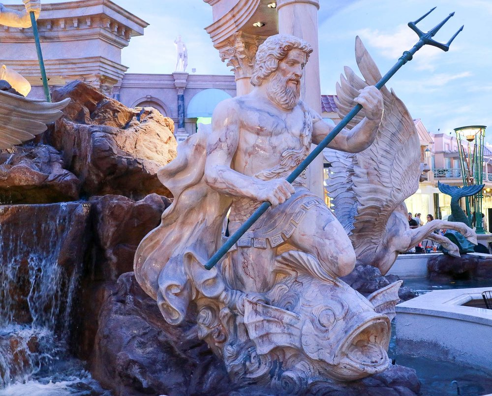 Poseidon Statue at Caesars Palace