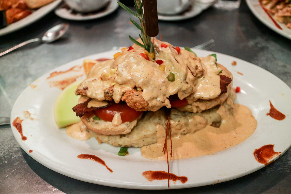 The Infamous Chicken Benedict, Hash House a Go Go, Linq Hotel