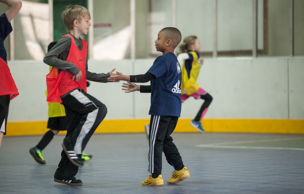 DUSC Players show sportsmanship at the DUSC School's Out Camp at Pier 40.
