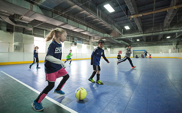 Players show their moves at DUSc School's Out Camp at Pier 40.