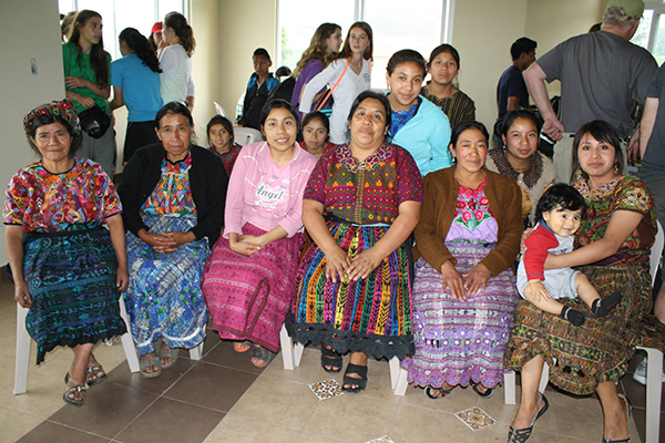 DUSC players in Guatemala with Soccer Recycle got to meet the madres in their beautiful colorful dresses.