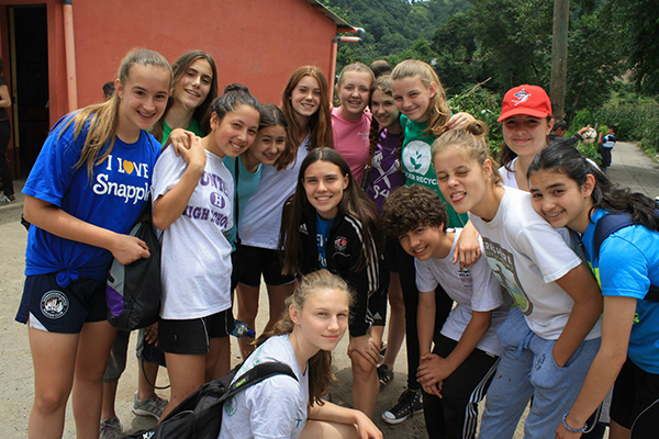 DUSC players in Guatemala with Soccer Recycle.