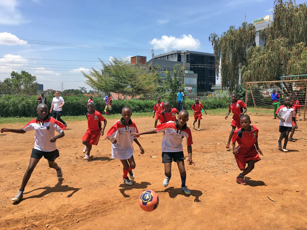 Girls from Mulago and Buguyere Deaf schools compete in the 2017 Promoting Play Tournament