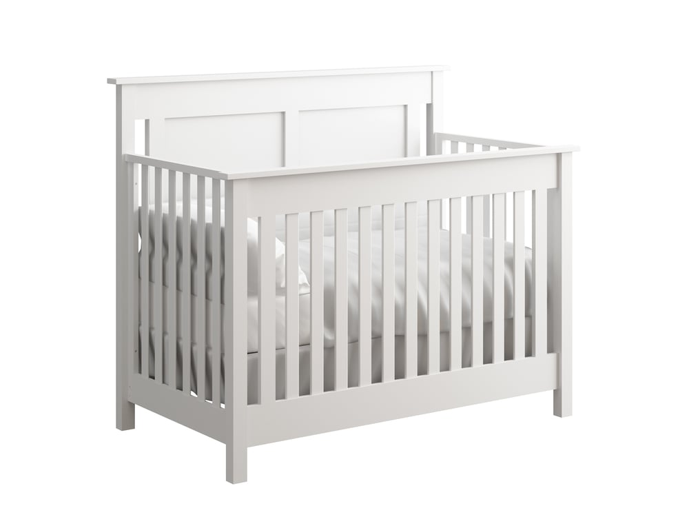 Hampton Crib in White