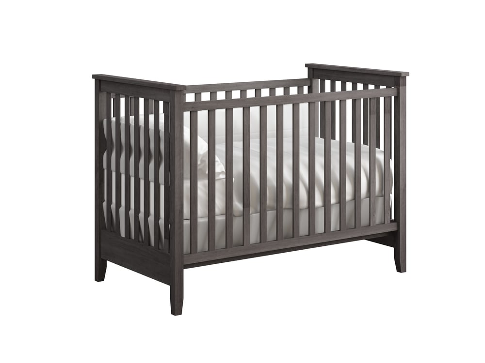 Hastings Crib in Storm Grey