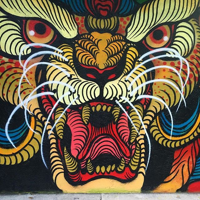 Tasty Tuesday street art. #foodtrucks #etouffee #orlando #orlandoart #tastytuesday @msevv