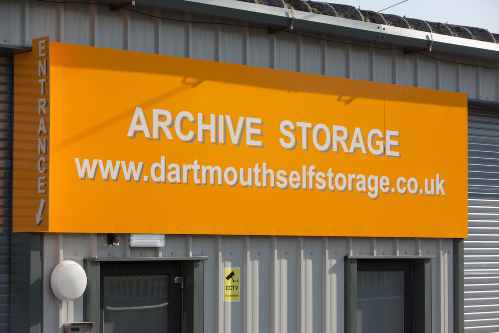 Archive storage signage at Dartmouth Self Storage