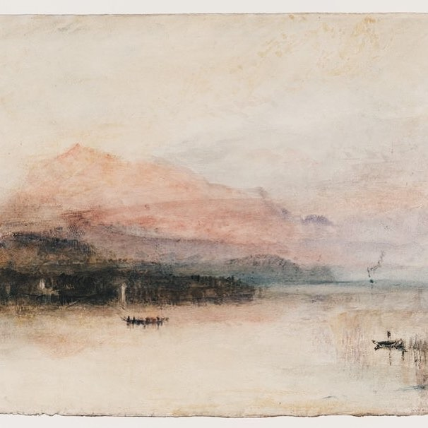 JMW Turner - 'The Rigi: Last Rays' (1841-2) . . In this unfinished watercolour study by JMW Turner I admire most the juxtaposition of freedom and restriction.  His loosely executed brushstrokes are united by a restricted tonal range; in looking at it, I can't help but be swept up in the rich emotion of his view. Turner's ability to enchant the eye of the beholder is masterful and timeless. . . #jmwturner #tate #art #artsed #watercolor #watercolour #masterpiece #tbt