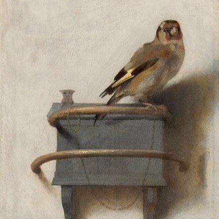 The Goldfinch • Carel Fabritus (1654) . . A bird sitting on a tree is never afraid of the branch breaking, because her trust is not on the branch but on its own wings. #birdlovers #neutrals #masterpiece