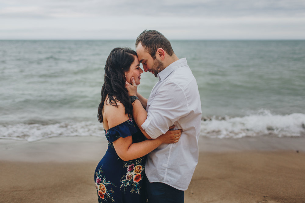 Southwest Michigan Wedding Photographer_Lake Michigan Engagement Session