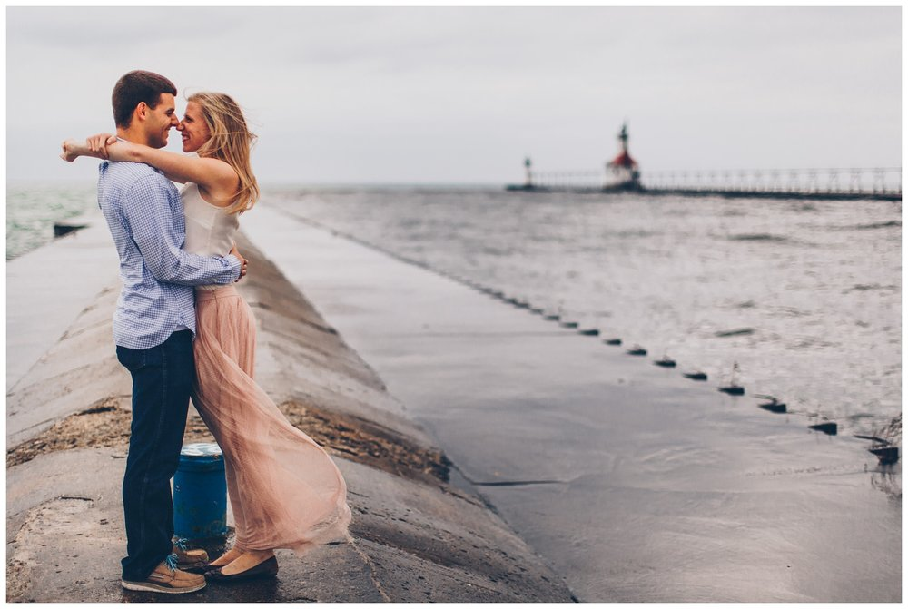 Lake_Michigan_Lightouse_Engagement_Photos_StJoseph_Pier