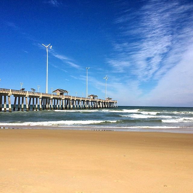 #pier #obx #travel #northcarolina #beach #outerbanks #southern #atlanticocean #wonder #cbigrock #marchbreak #usa #travelphotography #naturephotography #sand #waves