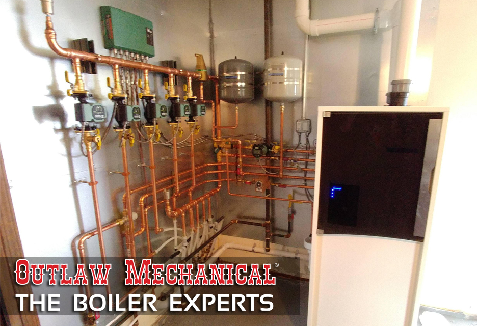 Outlaw Mechanical - The Boiler Experts installs top of the line Rinnai boiler