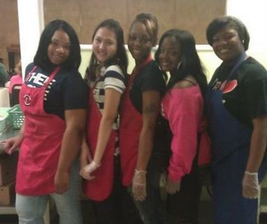 alpha lambda delta members at jackson state university giving back to their community