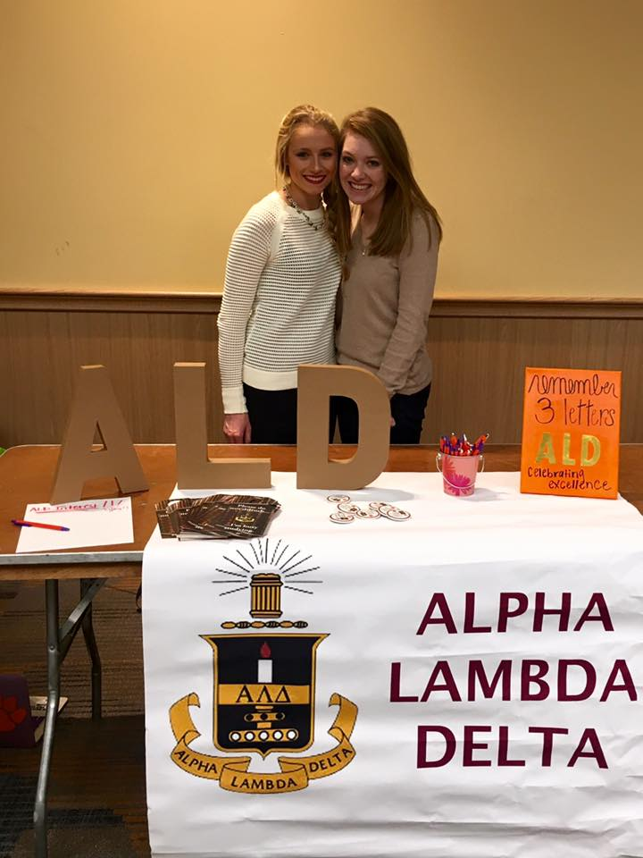 clemson university's alpha lambda delta information table