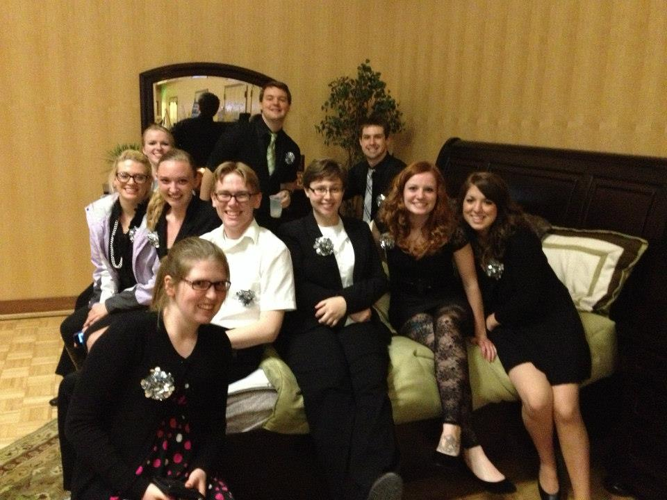 central washington university ald members at a gala