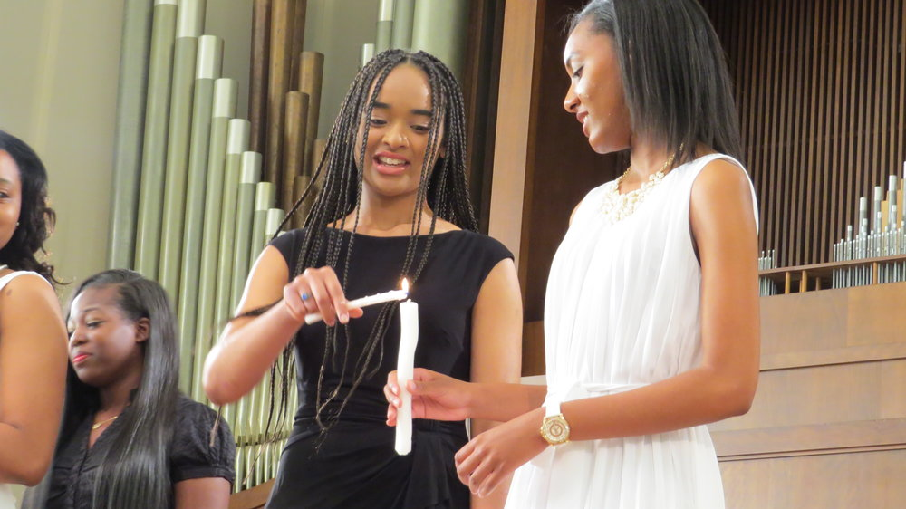 'passing the torch' at the spelman college induction ceremony