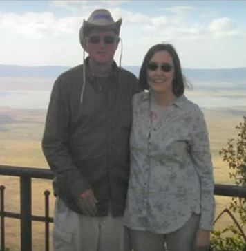 Sharon and her husband on their recent trip to africa