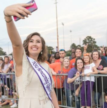 mallory was voted homecoming queen at Northwestern state University!
