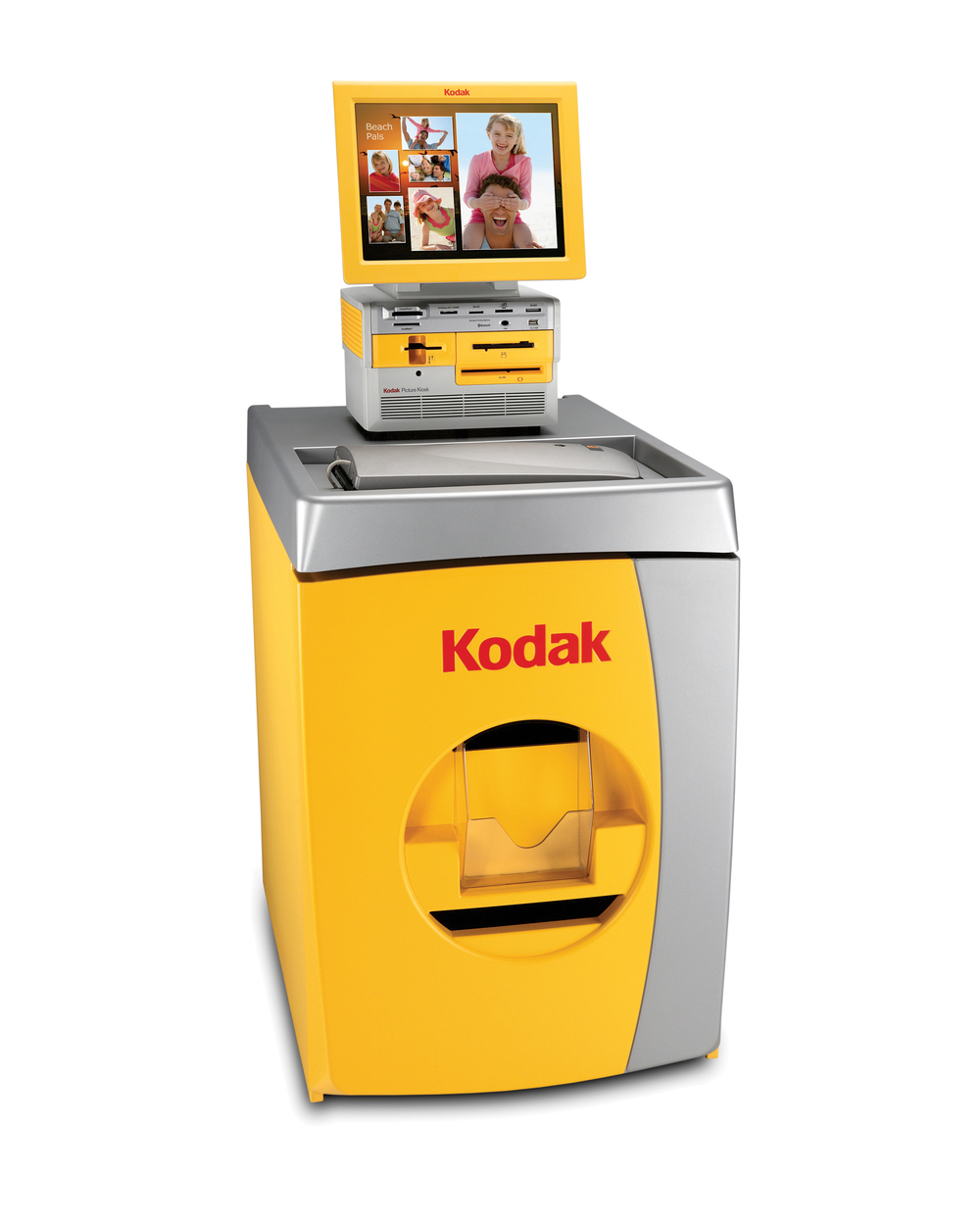 Kodak Photo Kiosk.  These photo kiosks are great to place in convenience stores, drug stores, grocery stores, and many other retail type stores.  They can be an instant way to make additional money for your business.  Small towns with limited options to get photos printed benefit greatly when a local business brings one of our Kodak Picture Makers to town.