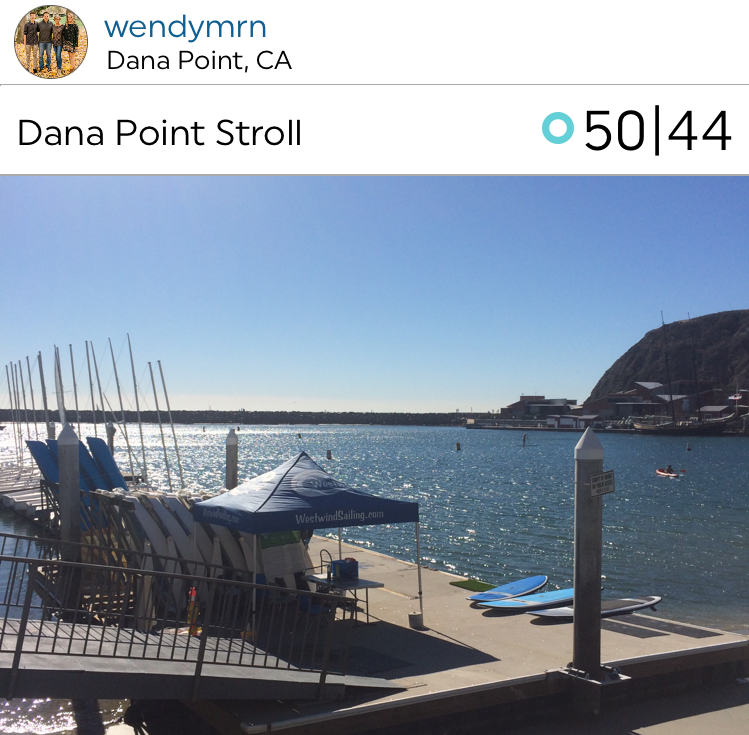 @wendymrn takes a beautiful stroll at Dana Point on the So-Cal coast.
