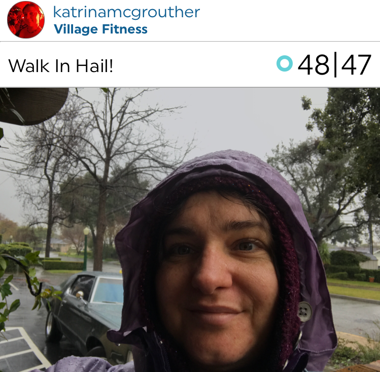 @katrinamcgrouther gets out even in the hail! Excellent work Katrina!