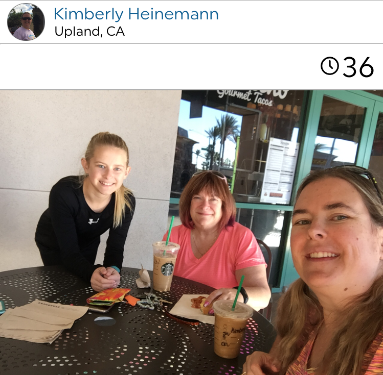 @kimberlyfossheinemann and family- both mom and daughter enjoy a walk and some coffee together.