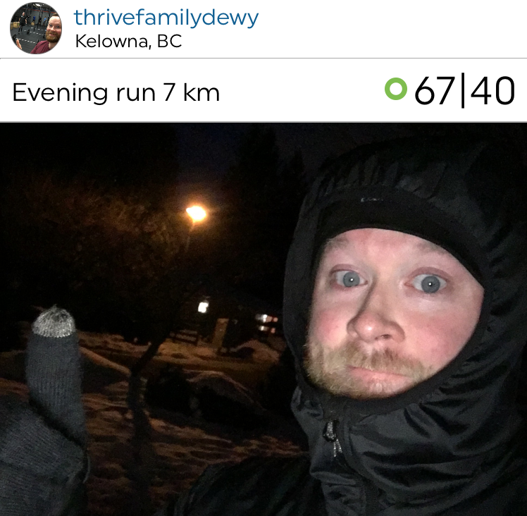 @thrivefamilydewy getting out there despite the cold!! Amazing job!