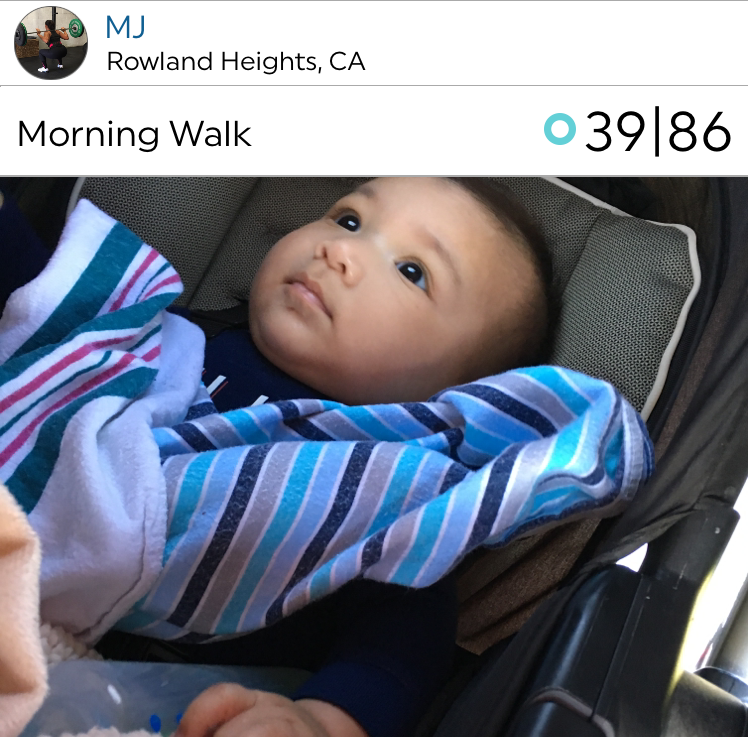 What a sweet baby! @mj11 shares her morning walk with the cutest grandbaby.