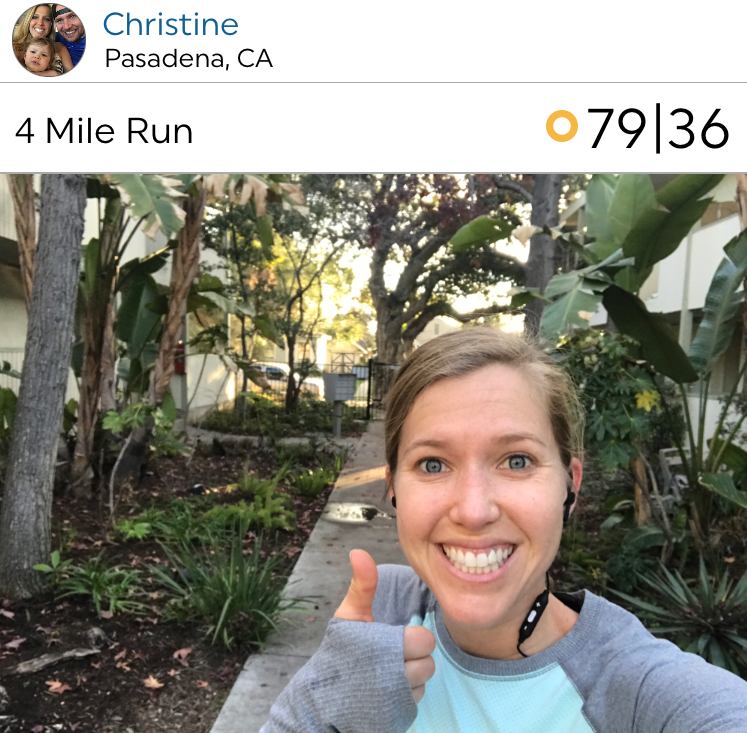 @Christine back at it with the Pasadena runs!