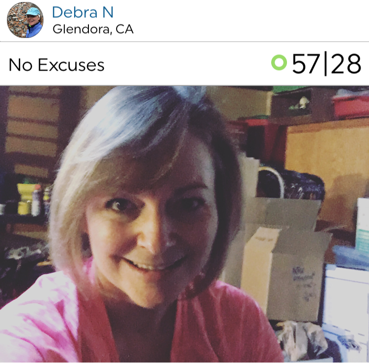 @fitnessgirl shared her workout. Love the title: No excuses! Debra doesn't have an excuse so what's yours?!