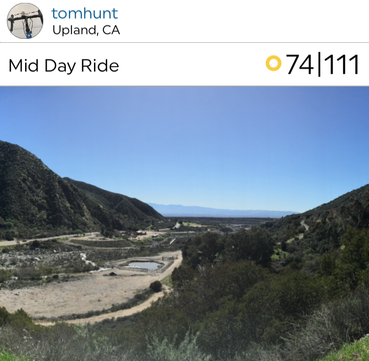@tmsjp posted a lovely sunny bike ride from Upland!
