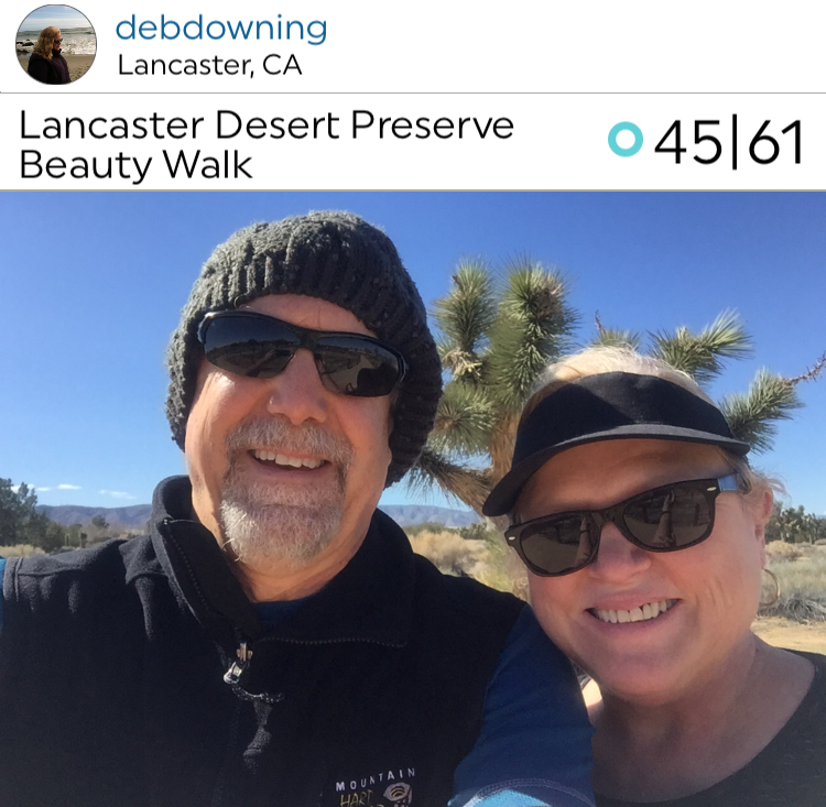 @debdowning and husband on a nice Lancaster Desert Preserve Walk! Looks like a nice place to walk!