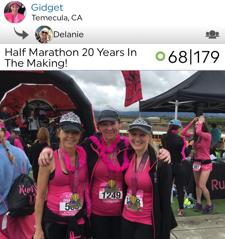 @gmwood and @delaniewood finished a half marathon this past week, which Gidget had noted on her workout that this run was one that was 20 years in the making, since her doctors had told her she would never walk again! Gidget, amazing, amazing job- all of us at Pk are so proud of you!