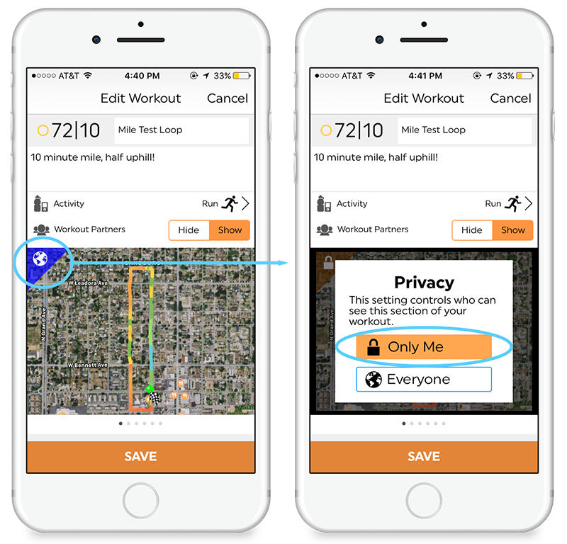 Hide Tiles - You now have the ability to select which specific tiles are shown in your workout. You will still be able to see all your workout tiles, but only the ones you select are shown publicly.
