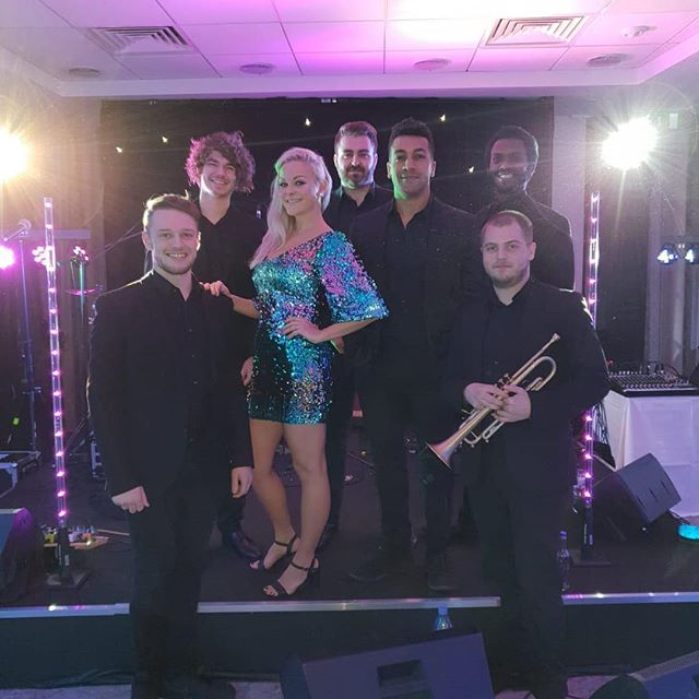 The Good Times Band in action last weekend for a Christmas party at @doubletree 🎺🎙🎸