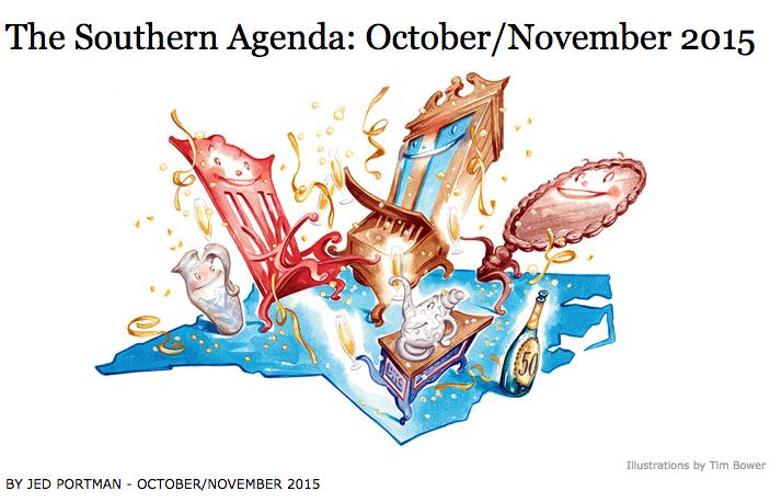 Garden & Gun, Southern Agenda, Oct 2015