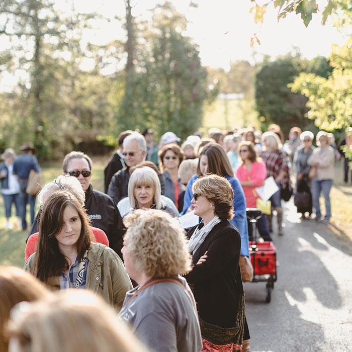 The crowd at the City Farmhouse Pop-Up Fair