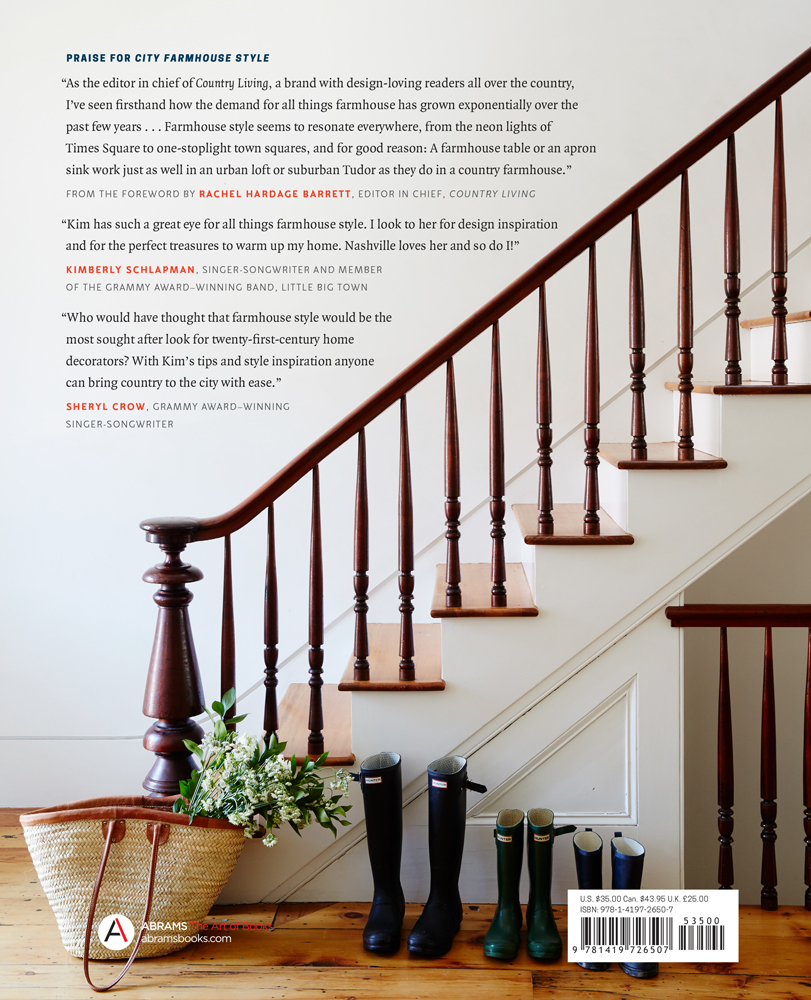 The Back Cover of City Farmhouse Style written by Kim Leggett