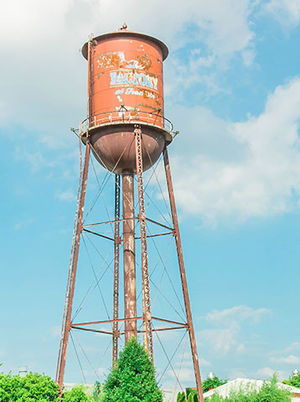 City Farmhouse is located near the water tower at The Factory
